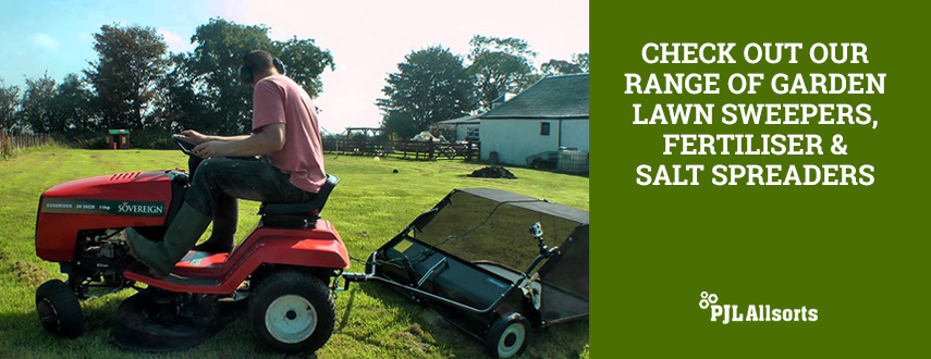 Garden Lawn Sweepers, Fertiliser and Salt Spreaders